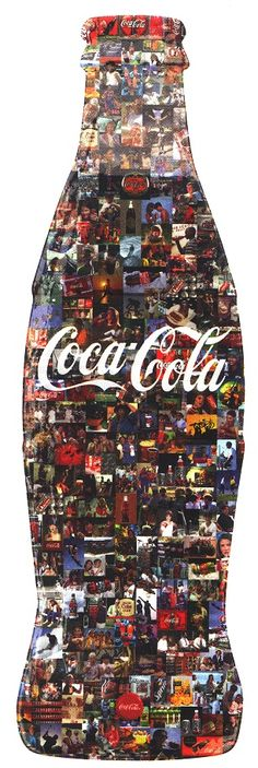 Coca-Cola Picture made from pictures FOLLOW THIS BOARD FOR GREAT COKE OR ANY OF OUR OTHER COCA COLA BOARDS. WE HAVE A FEW SEPERATED BY THINGS LIKE CANS, BOTTLES, ADS. AND MORE...CHECK 'EM OUT!! Anthony Contorno Sr