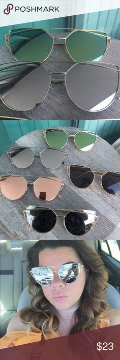 THANKSGIVING SALE! Mirror cat eye sunglasses New. Black lenses are not mirror Accessories Sunglasses