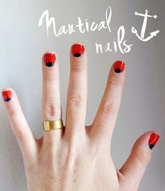 I did this to myself!  http://www.samanthahahn.com/blog/2012/02/23/nautical-reverse-french-manicure/