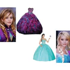 """""""Elsa and Anna at the Ball"""" by mandilynn726 on Polyvore"""