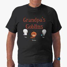 c7f576329 Personalized Grandpa's Goblins T-Shirt Creative Halloween Costumes, Halloween  Fun, T Shirt Costumes