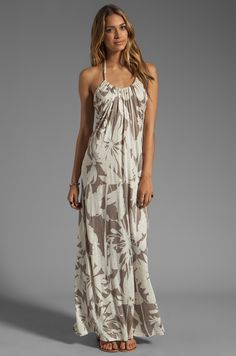 Velvet by Graham & Spencer Orville Corfu Maxi Dress in Cameo | REVOLVE