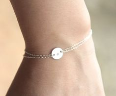 Delicate monogrammed bracelets, perfect as bridesmaids gifs.