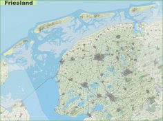 Large detailed topographic map of South Holland  Maps  Pinterest