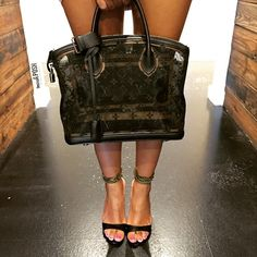 Classy! Louis Vuitton Limited Edition Transparence Monogram Lockit Satchel Bag paired with Manolo Blahnik Black Leather Evolu Chain Ankle Strap Heels! Both available to purchase on www.mymoshposh.com! #newarrivals #classy #louisvuitton #lvlimitededition #lvlockitbag #lvlove #lvobsessed #manoloblahnik #shoelover #talkshoes #purselover #purseblog #moshposhfinds #mymoshposh #designerhandbags #designershoes #designerconsignment