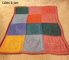 Doctor Who baby blanket from washcloth pattern