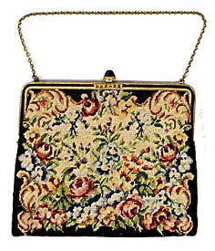 Vintage Petit-roses Embroidered Purse/bag