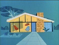Mr. Magoo's modernist home, UPA.