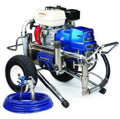 """The Graco 16W870 (Old# 248687) GMax II 5900 Lo-Boy Standard Series Gasoline Airless Sprayer comes complete with the Graco Contractor Spray Gun, RAC-X 517 Switch Tip and Guard and 50'x 1/4"""" BlueMax Airless Hose.With a 160 cc Honda engine and the ability to spray up to 1.6 gallons per minute, the GMAX II 5900 is the industry standard for the professional contractor who sprays a wide variety of coatings on residential, commercial, and industrial jobs.In addition, The Standard Series sprayer…"""