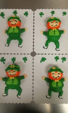 Leprechaun cupcake critter 2 cupcakes Cupcake Decorations, Cupcake Ideas, St Pattys, St Patricks Day, Fun Cupcakes, Cupcake Cakes, Cookie Decorating, Decorating Tips, Pull Apart Cake