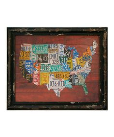 US Map Print by VIP International.  I've always thought the license plate maps were pretty creative and interesting.