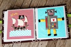Pirate ship quiet book page and Robot quiet book page by ginger