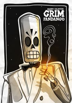 Manny Calavera from Grim Fandango - This brings back memories. Lucasarts in the good old days.