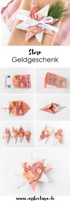Money gift for Christmas - room divider ideas - Money gift for Christmas Money gift for Christmas: banknotes as stars or angels fold a great DIY gi - Diy Crafts To Sell, Crafts For Kids, Sell Diy, Kids Diy, Don D'argent, Wallpaper World, San Valentin Ideas, Diy 2019, Diy Cadeau