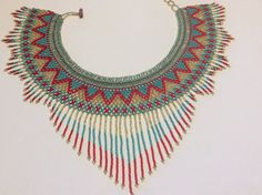Beautiful hand beaded necklace. Styled like by Beadsandbaublesdall