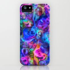 Colour Aquatica - Berry Blue iPhone Case by Lisa Argyropoulos