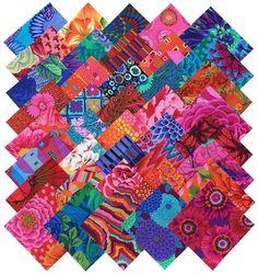 Cotton Fabric Quilting Scraps Kaffe Fassett Fabric Squares Pre Cut Quilt Kits #KaffeFassett
