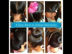 40 hairstyles for school girls 2018 - Peinados Hairstyle For Girls Video, Hairstyles For School Boy, Old Hairstyles, Easy Hairstyles For Kids, Cute Hairstyles For Short Hair, Girl Short Hair, Little Girl Hairstyles, Long Hair, Simple Hairstyles