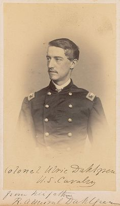 Col. Ulric Dahlgren. His Union cavalry troopers surprised a larger force of Confederate cavalry on July 2, 1863 on the square in Greencastle. Important papers for General Lee were taken from the men who were captured.