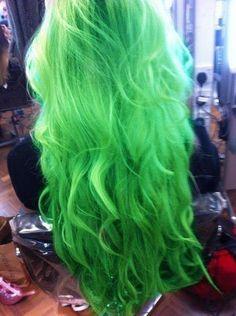 green hair like a mermaid!!