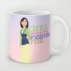 mulan.. girl worth fighting for. Mug by studiomarshallarts - $15.00