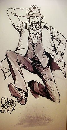 """Do you know """"Rupin Ⅲ""""? He is """"Zenigata"""" written by ink painting! Ellesmere Island, Ink Painting, Scene, Japanese, Art, Art Background, Japanese Language, Kunst, Performing Arts"""