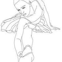 Ballet class with dancers performing stretching movements coloring apge - Coloring page - SPORT coloring pages - DANCE coloring pages - BALL...