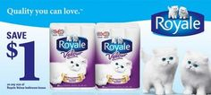 Royale Velour Toilet Paper: Save $1 off GoCoupons