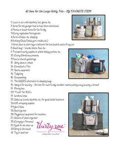 LOVE the Large Utility Tote!  Soooo many uses...AND it's the June 2013 Customer Special!
