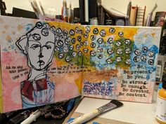 Mixed Media Faces, Art Journals, Silhouettes, Presents, Gifts, Art Diary, Silhouette, Favors, Gift