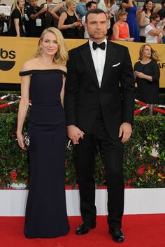 Naomi Watts and Liev Schreiber on the SAG Awards Red Carpet. [Photo by Amy Graves]