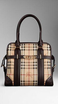 81b52687d6cf Medium Haymarket Check Portrait Tote Bag Burberry Outlet