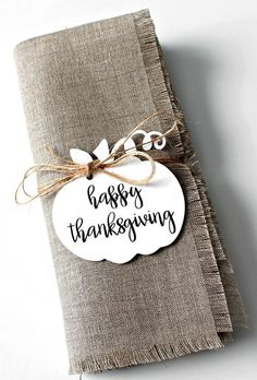 Napkin Tags, Thanksgiving Napkin Rings, Thanksgiving Table Decor, Pumpkin Tags, Set of Rustic Tab Hosting Thanksgiving, Thanksgiving Table Settings, Christmas Table Settings, Thanksgiving Decorations, Table Decorations, Thanksgiving Ideas, Holiday Ideas, Centerpieces, Christmas Place Cards