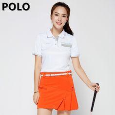 Brand Polo Anti Leakage Sports Ladies Womens Golf Badminton Tennis Skort Skirt Solid Skirts Shorts Cotton Mini Short Skirts