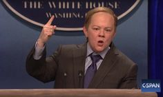 omg, i was in tears- Melissa is crazy! -juliette.  Melissa McCarthy Spins The Facts As Sean Spicer On 'Saturday Night Live' | The Huffington Post