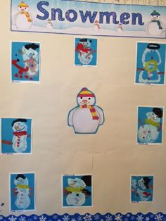 A super Snowmen / Winter classroom display photo contribution. Great ideas for your classroom! Classroom Displays, Classroom Decor, Photo Displays, Snowmen, Bulletin Boards, Reception, Winter, Fun, Winter Time