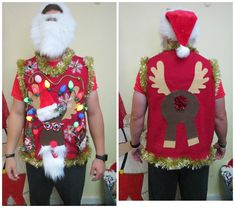 Excited to share the latest addition to my shop: Homemade Hysterical Santa Nerdy Reindeer Tacky Ugly Christmas Sweater VEST, Santa Rudolph Sweater, Light UP Mens XXL, Womens Vest Source by tackyuglychrist vest Homemade Ugly Christmas Sweater, Reindeer Ugly Sweater, Ugly Christmas Sweater Vest, Funny Christmas Gifts, Christmas Sweaters, Red Christmas, Christmas Ideas, Men Sweater, Xmas
