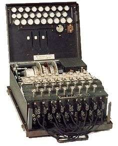 """Enigma"" the coding device which enabled codebreakers at Bletchley Park, England, to assist the Allied Forces in winning WW II  *my aunt worked on this project in England*"