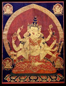 ~ 17th century central tibeten thanka of guhyasamaja akshobhyavajra, rubin museum of art ~