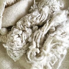 Swooning... I almost kissed the poor mailman!  #crazyyarnobsessedladyliveshere #yarnporn #yarnicorn #fiber #fiberart #wool #locks #artyarn #stash #fiberstash #collection #white #neutrals by thecatskillkiwi