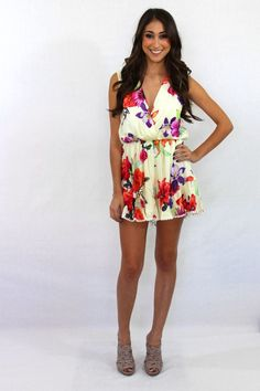 Sweet Nothing Sleeveless Floral Romper – The Laguna Room