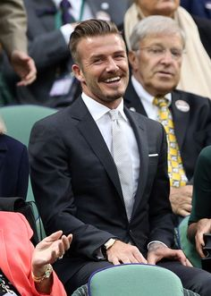 David Beckham at the Wimbledon final