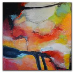 Large Original Abstract Painting Large abstract Orange by Andrada, $599.00