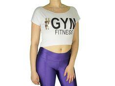 Blusas Femininas | Blusa Cropped Costas Rasgadas # Gym Fitness Branca  Acesse: http://www.spbolsas.com.br/atacado/ #Regatas #Femininas #Atacado
