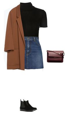 """Untitled #439"" by silverquarts on Polyvore featuring Rosetta Getty, Yves Saint Laurent, Zara, RED Valentino and Marni"