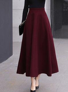 Stylish High Waist Big Hem Hairy Maxi Skirt - - Style High Waist Big Hem Woolen Maxi Skirt Source by ezpopsy Modest Dresses, Modest Outfits, Modest Fashion, Hijab Fashion, Fashion Dresses, Maxi Dresses, Long Skirt Fashion, Elegant Dresses, Maxi Skirt Outfits