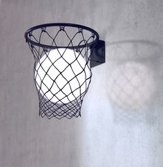FADO lamp idee in basketbalnet
