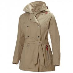Enjoy this Scandinavian take on a women's classic. The detail-rich Helly Hansen Welsey Trench Coat has full-zip, double-breasted snap styling and is waterproof, windproof and breathable. Green Raincoat, Hooded Raincoat, Classic Trench Coat, Long Trench Coat, Helly Hansen Coats, Raincoats For Women, Jackets For Women, Women's Jackets, Waterproof Trench Coat
