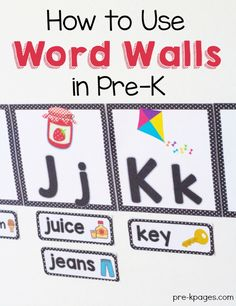 How to use a Word Wall in your pre-k, preschool or kindergarten classroom. Learn about the literacy benefits of using a word wall in your classroom. Preschool Word Walls, Classroom Word Wall, Preschool Writing, Preschool Learning, Preschool Activities, Preschool Bulletin, Preschool Printables, Learning Games, Future Classroom
