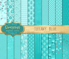 Tiffany Blue Digital Paper by Origins Digital Curio on @creativemarket